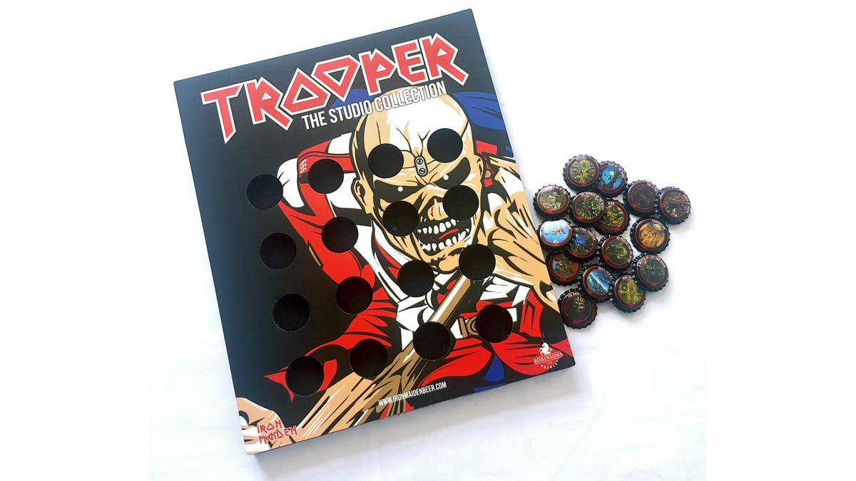 Trooper Beer Launch Limited Edition Collector Bottle Caps