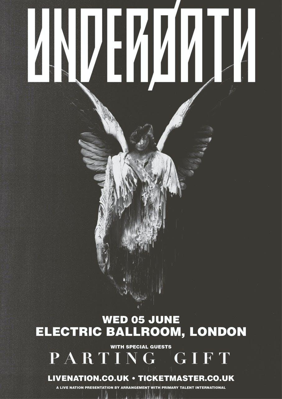 Underoath London show poster