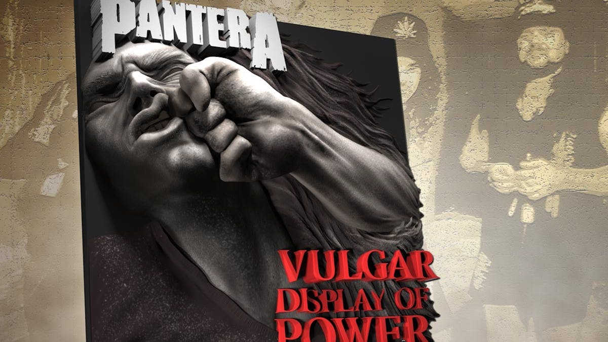 Pantera Release 3D Sculpture Of Vulgar Display Of Power's Cover