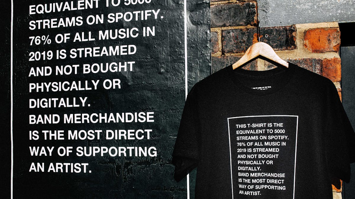 While She Sleeps Are Shedding Light On Poor Streaming Revenue With A New T-Shirt
