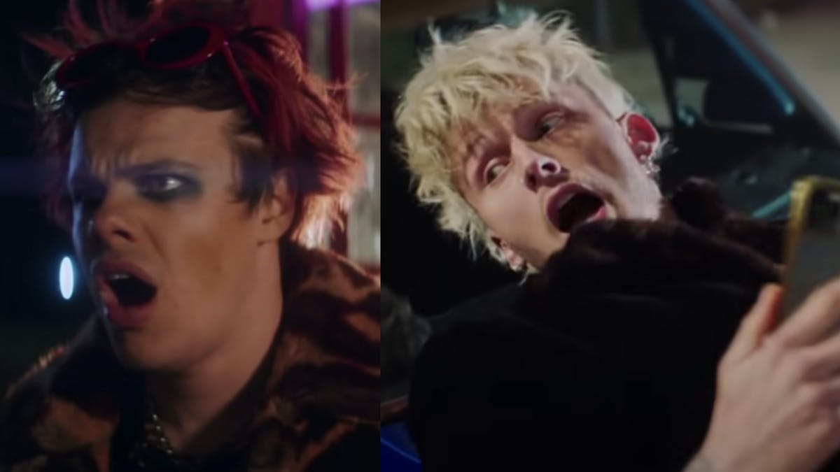 YUNGBLUD and Machine Gun Kelly encounter zombies in Acting Like That video trailer