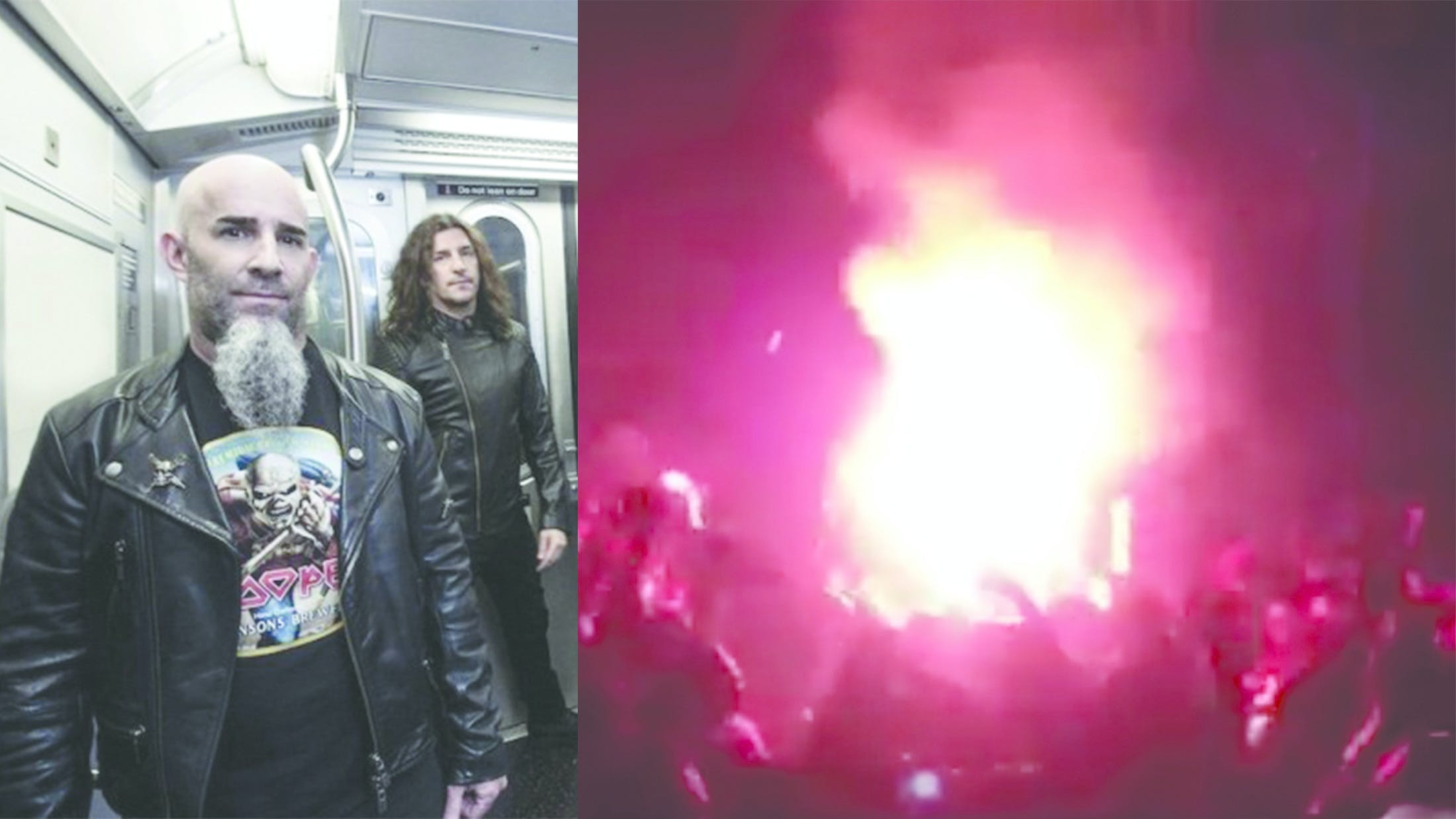 Chilean Anthrax Fans Start A Fire in The Moshpit