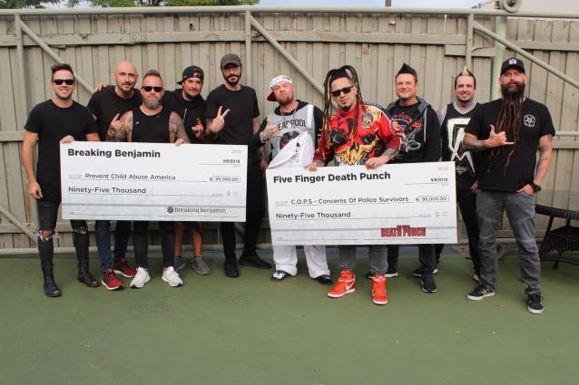 Five Finger Death Punch And Breaking Benjamin Donate $190k From Summer Tour To Charity