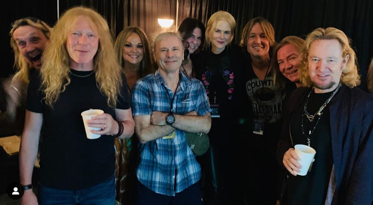 Keith Urban and Nicole Kidman Attended An Iron Maiden Show