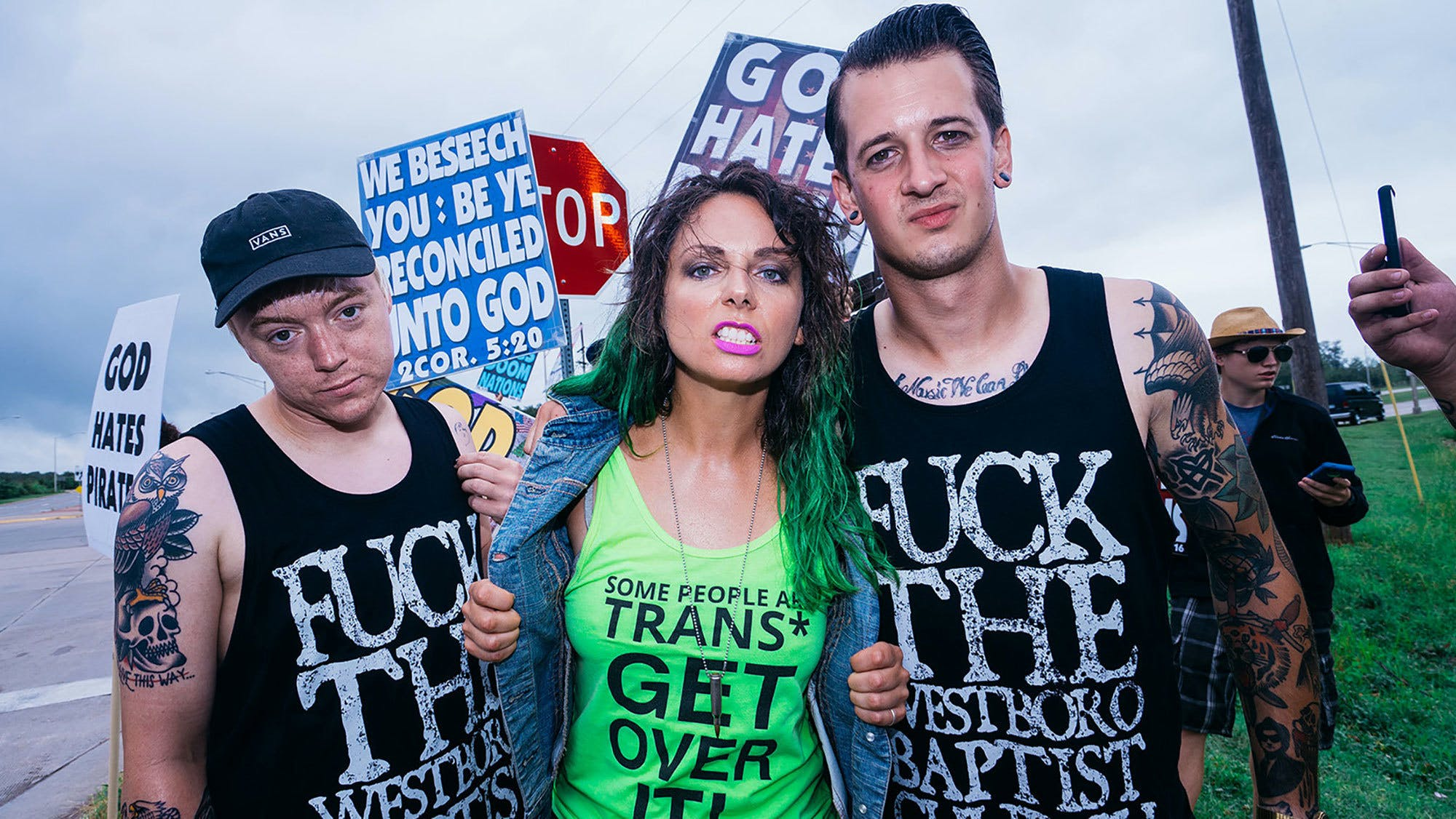 Creeper protesting Westboro Baptist Church