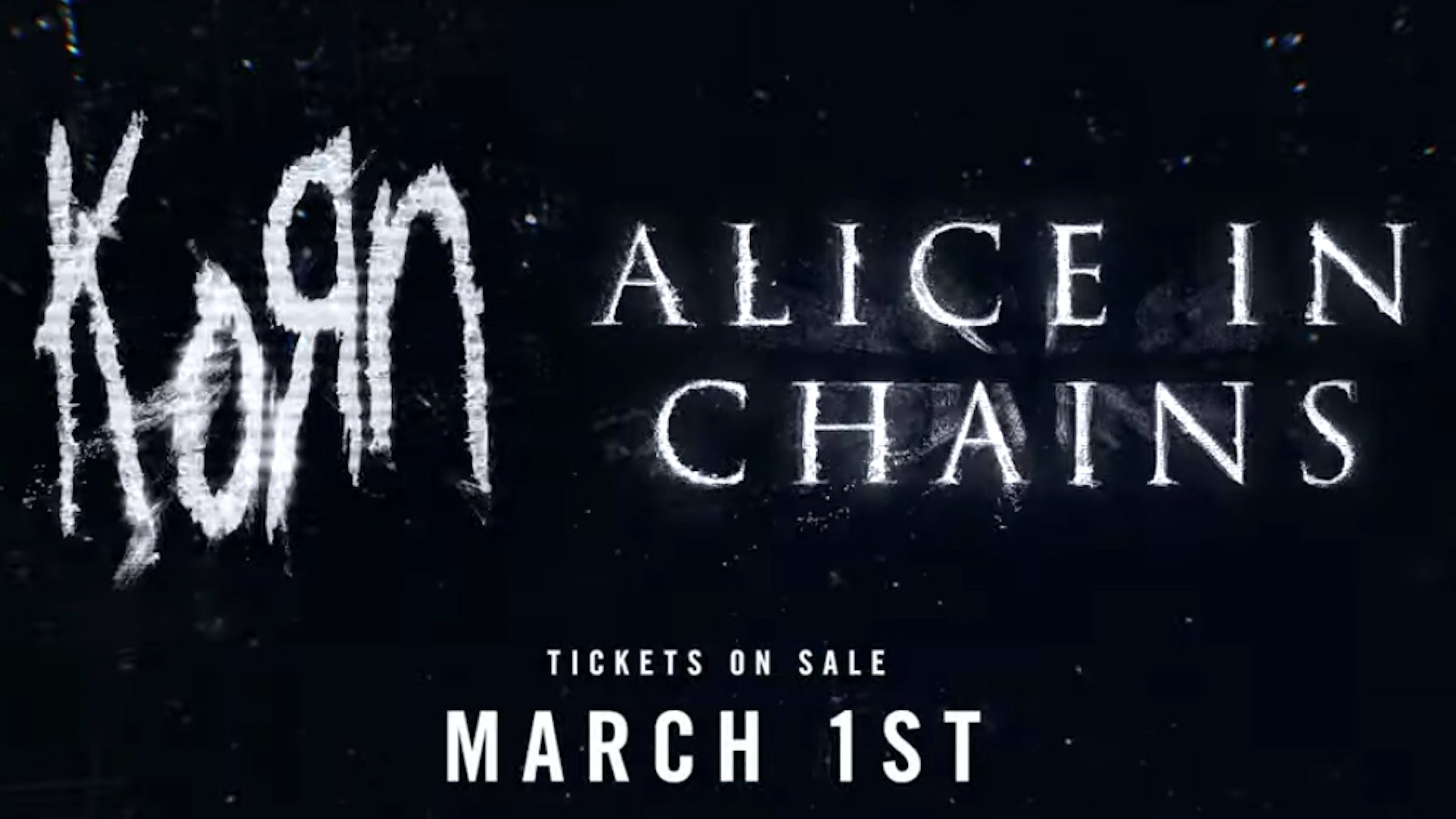 Korn Alice In Chains 2019 Tour Header