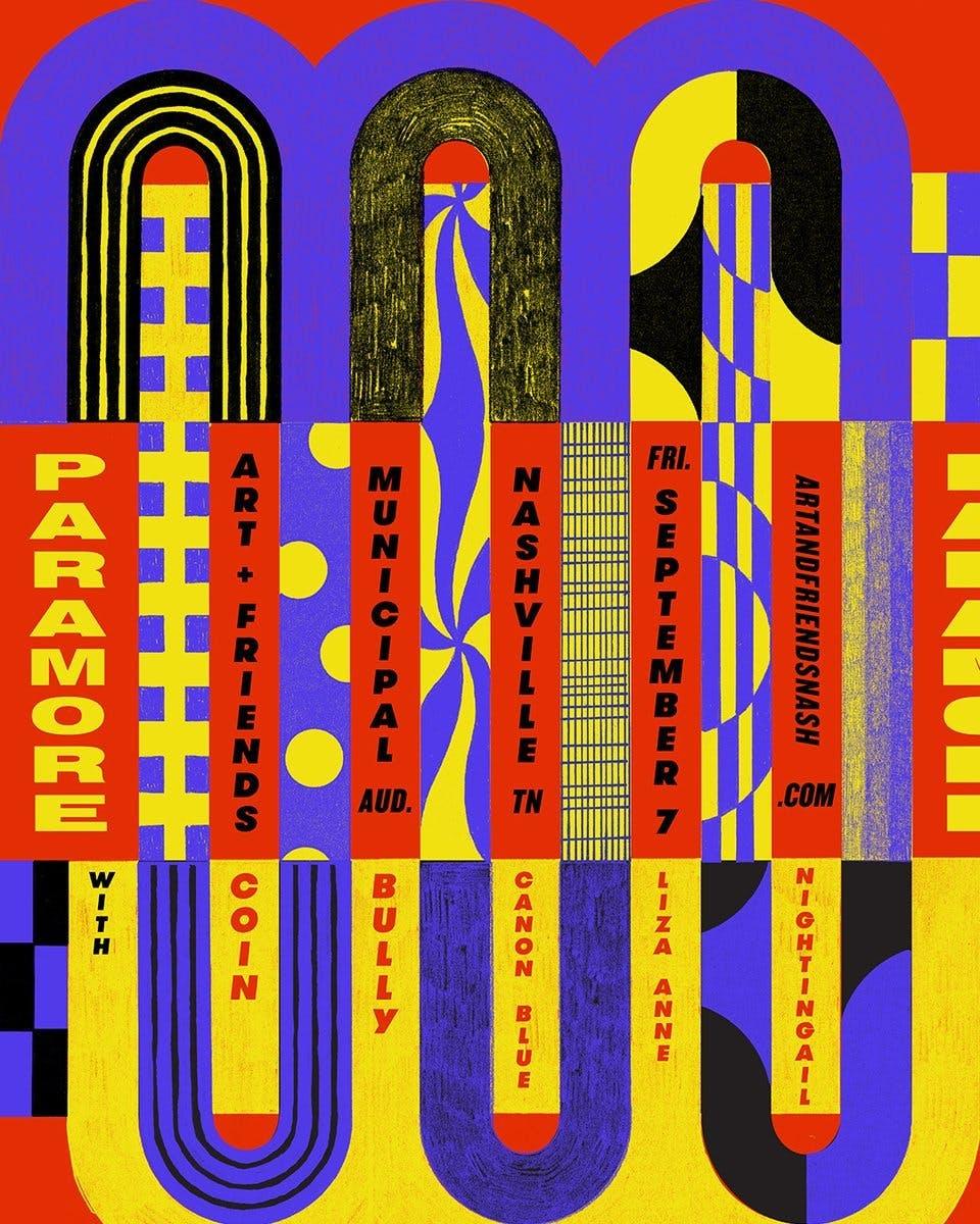 Paramore Art Show Poster