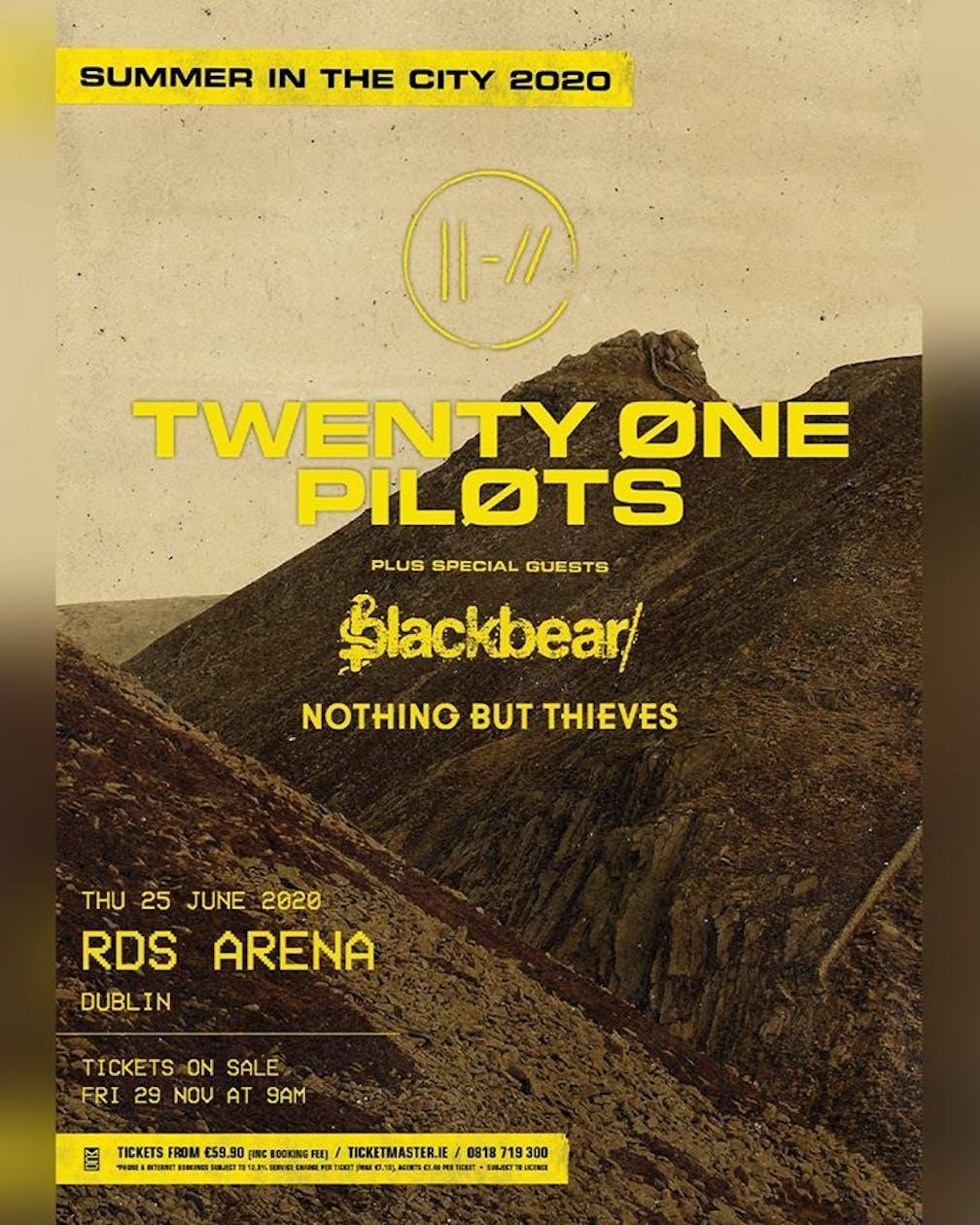 21 Pilots Tour 2020.Twenty One Pilots Have Announced A Dublin Show The Day